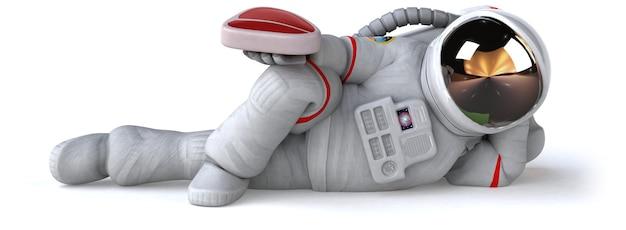 Весело космонавт 3d иллюстрации