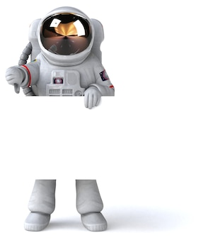 Fun astronaut 3d illustration