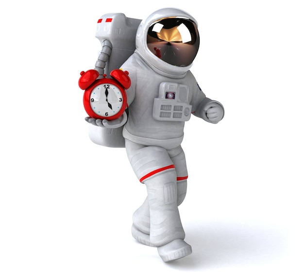 楽しい宇宙飛行士-3dイラスト