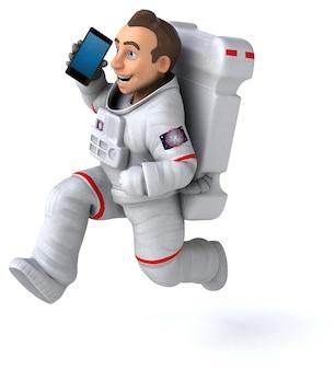 Забавный космонавт - 3d иллюстрации