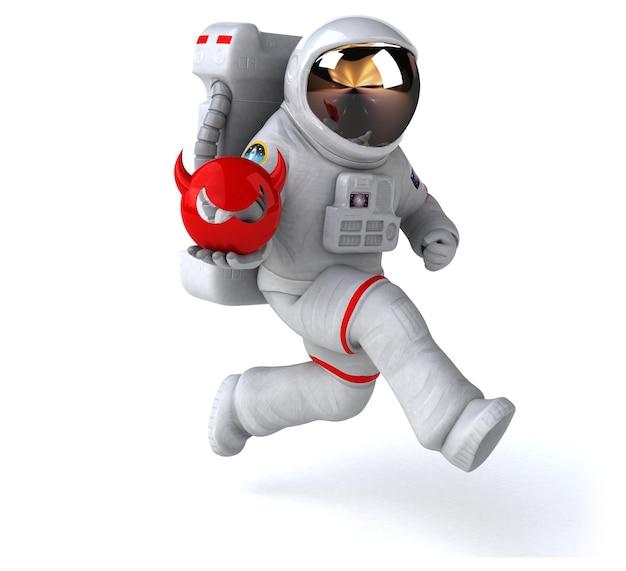 Забавный космонавт - 3d-рендеринг