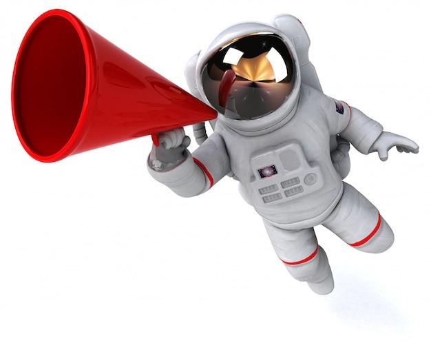 Веселая анимация космонавта