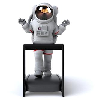 楽しい宇宙飛行士のイラスト