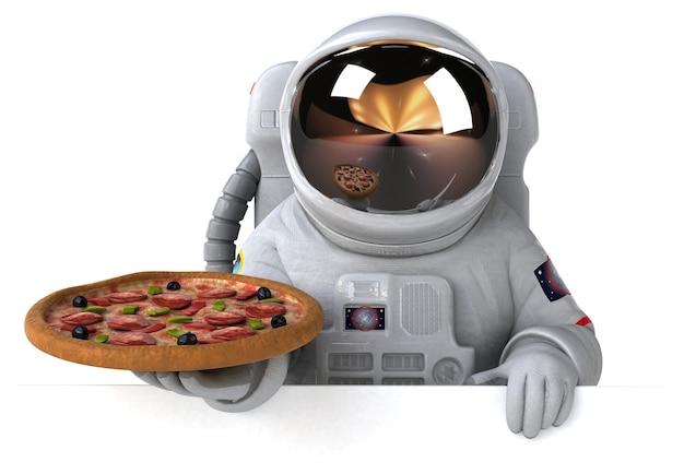 Забавная иллюстрация космонавта