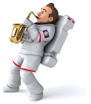 Fun astronaut illustration