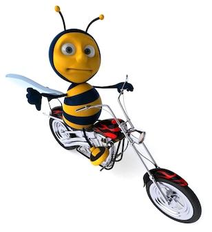 재미있는 꿀벌 - 3d 일러스트레이션