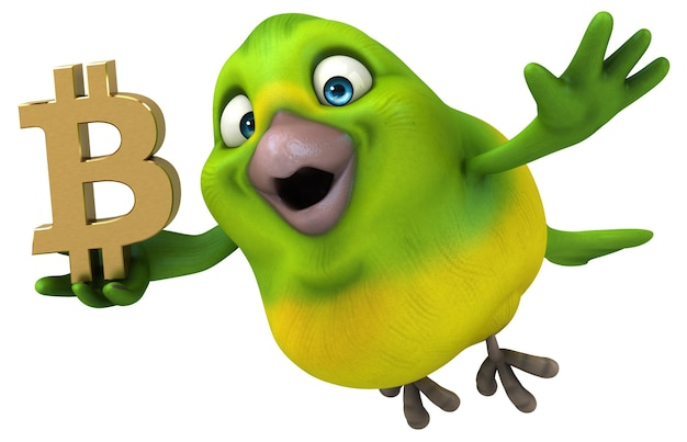 Забавная птица - 3d иллюстрации