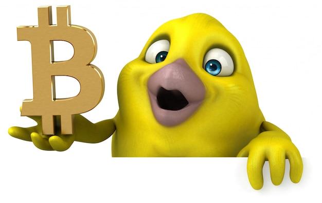 Fun bird character isolated - 3d illustration