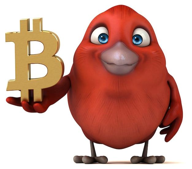 Fun bird illustration