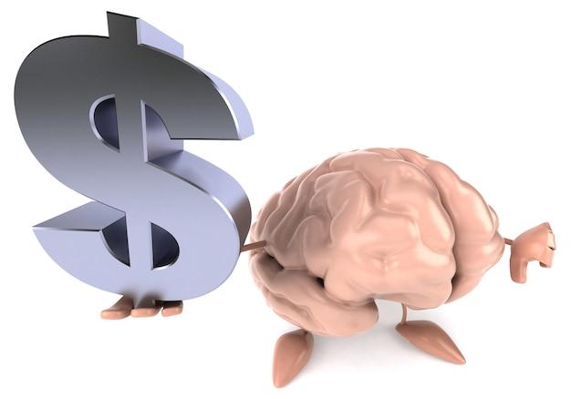 Забавный мозг 3d персонаж