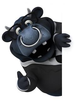 Fun bull 3d иллюстрация