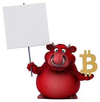 Fun bull - 3d illustration
