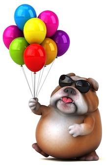 Fun bulldog - 3d character