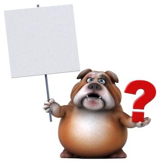 Fun bulldog - 3d illustration