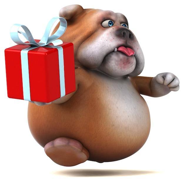Fun bulldog illustration