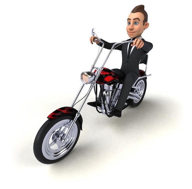 Забавный бизнесмен - 3d персонаж