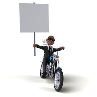 Забавный бизнесмен - 3d иллюстрация