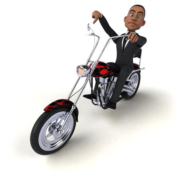 Весело бизнесмен 3d иллюстрация