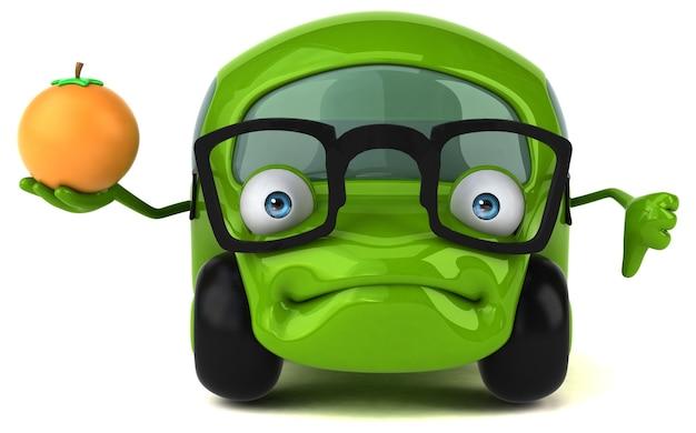 Веселая машина - 3d персонаж