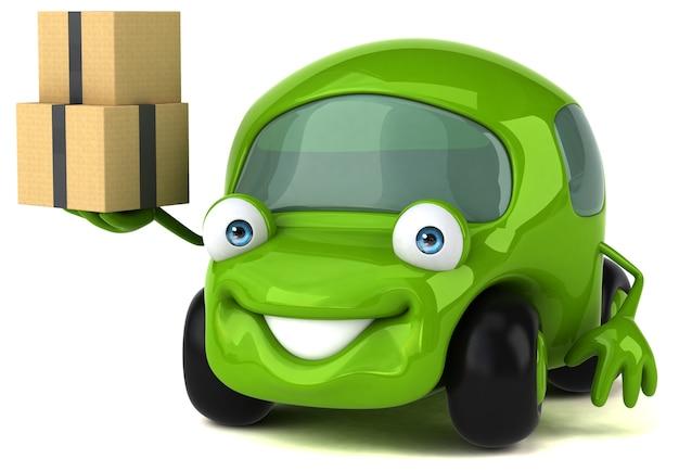 Веселая машина - 3d персонаж Premium Фотографии