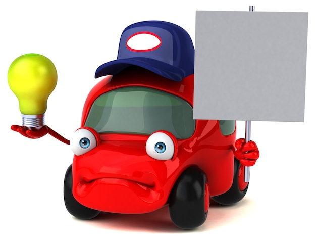 楽しい車-3dキャラクター