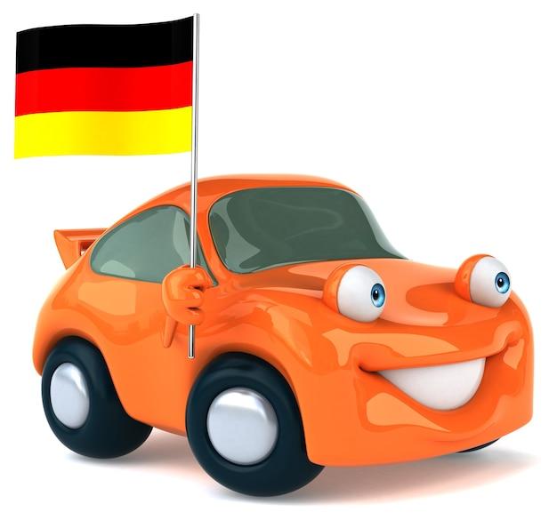楽しい車のアニメーション