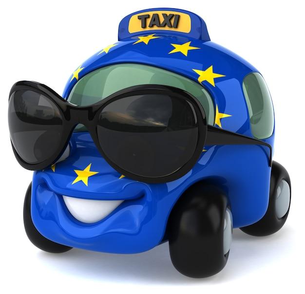 재미있는 자동차 애니메이션