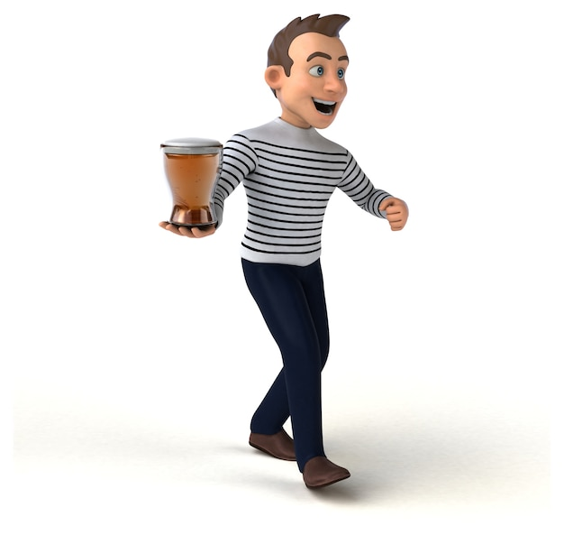 Fun cartoon casual character