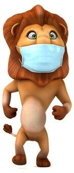 마스크와 함께 재미있는 만화 사자
