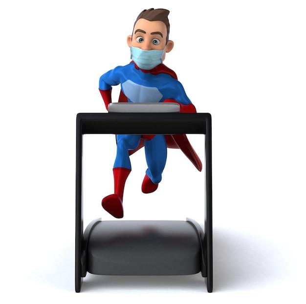 マスクと楽しい漫画のスーパーヒーローのキャラクター