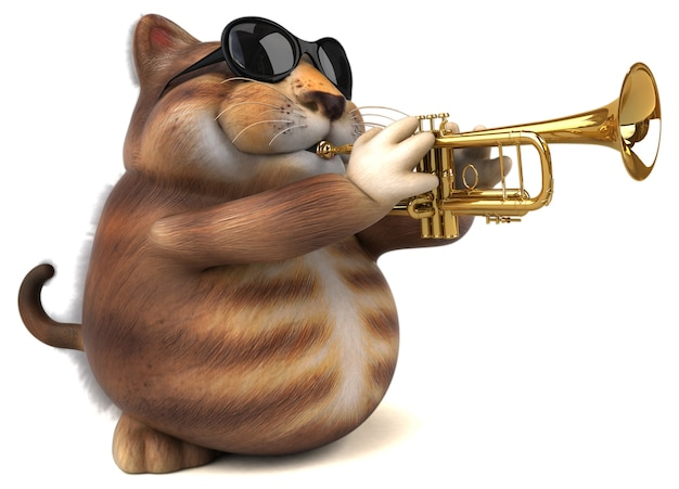 Забавный кот - 3d персонаж