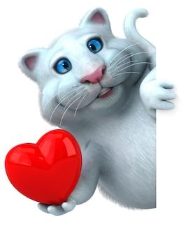 Забавный кот - 3d иллюстрации