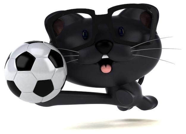 재미있는 고양이 - 3d 일러스트레이션
