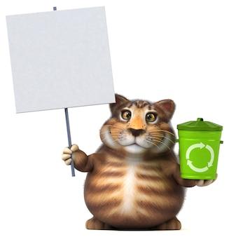 楽しい猫-3dイラスト