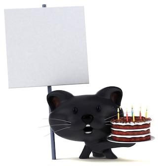 재미있는 고양이 - 3d 일러스트레이션 프리미엄 사진