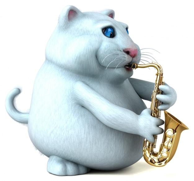 Веселая кошка 3d иллюстрация