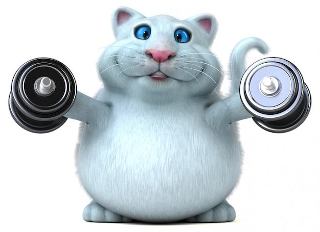 楽しい猫-3 dイラストレーション