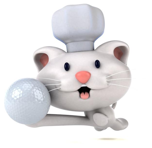 Fun cat - 3d illustration