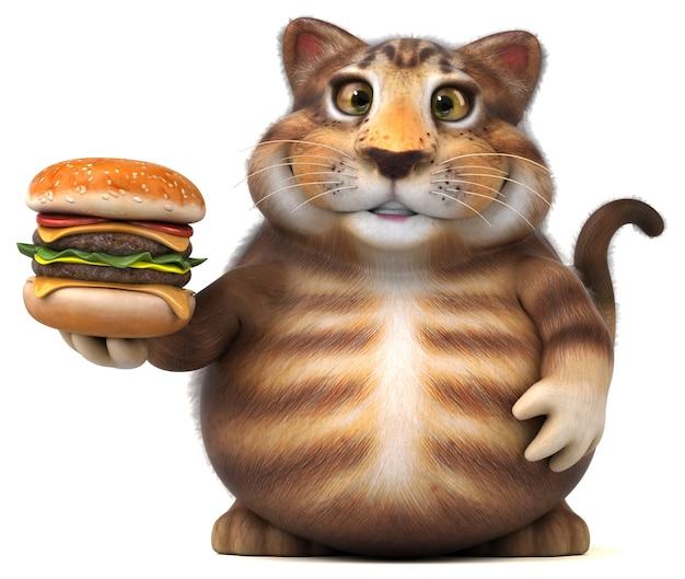 재미있는 고양이 -3d 일러스트