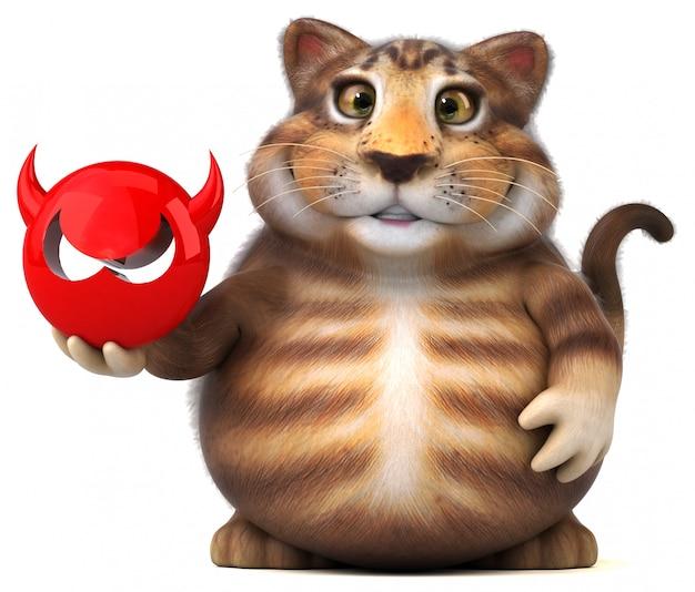 Fun cat - 3d иллюстрации