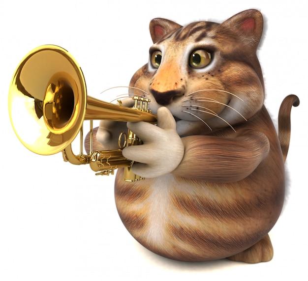 Веселая кошачья анимация