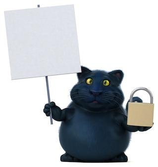 Забавная кошка иллюстрация