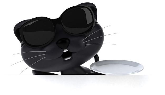 楽しい猫のイラスト