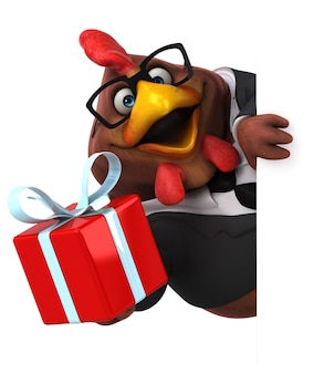 재미있는 치킨-3d 캐릭터