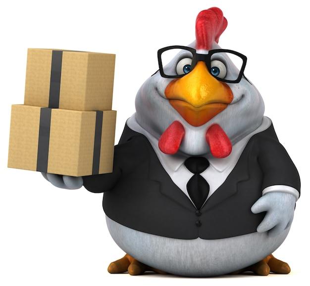 Забавный цыпленок - 3d персонаж