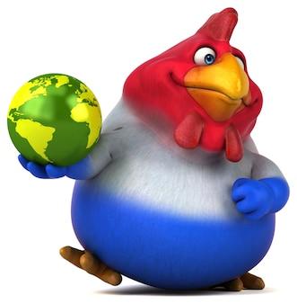 Забавный цыпленок - 3d иллюстрации