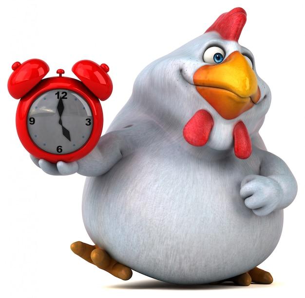 Веселая курица - 3d иллюстрации
