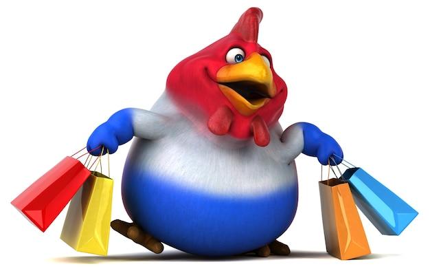 楽しい鶏-3dイラスト