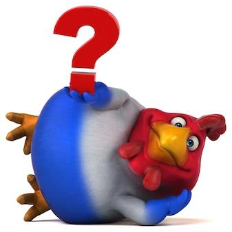 재미있는 치킨-3d 일러스트