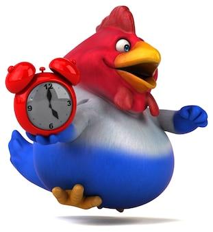 Забавная курица иллюстрация